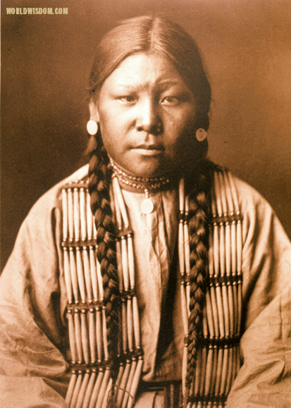 """Cheyenne girl"" - Cheyenne, by Edward S. Curtis from The North American Indian Volume 6"