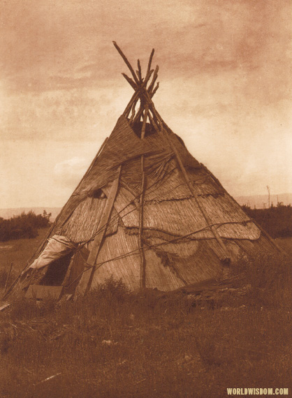 """Mat lodge - Yakima"",by Edward S. Curtis from The North American Indian Volume 7"