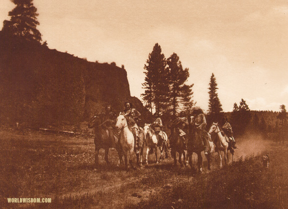 """On the move - Spokan"", by Edward S. Curtis from The North American Indian Volume 7"