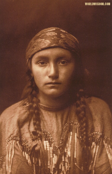 """Kutenai maiden"", by Edward S. Curtis from The North American Indian Volume 7"