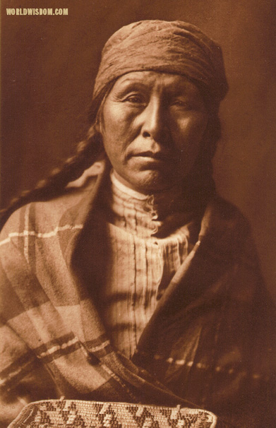 """Typical Spokan woman"", by Edward S. Curtis from The North American Indian Volume 7"