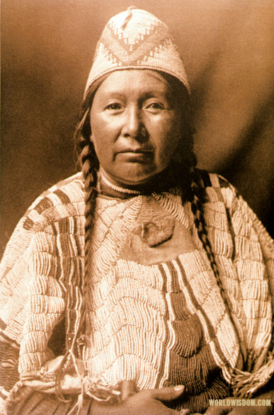 """Wife of Mnainak - Yakima"", by Edward S. Curtis from The North American Indian Volume 7"