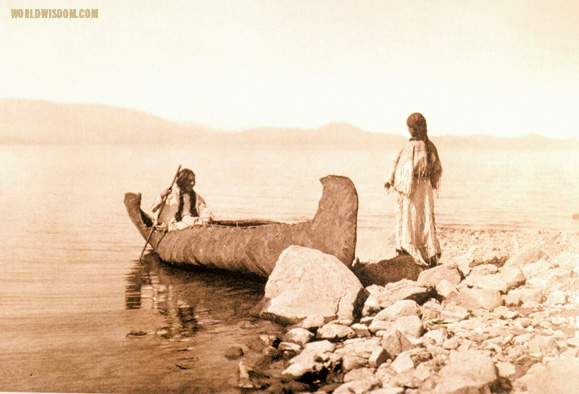 """Embarking - Kutenai"", by Edward S. Curtis from The North American Indian Volume 7"