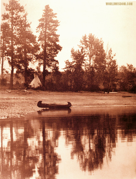 """Kutenai camp"", by Edward S. Curtis from The North American Indian Volume 7"