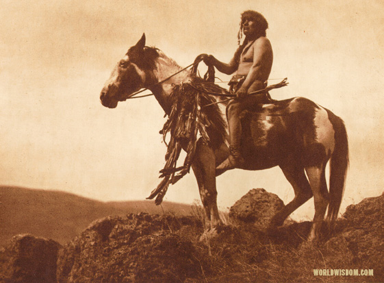 """Nez Perce warrior"", by Edward S. Curtis from The North American Indian Volume 8"