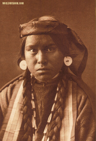 """Nez Perce girl"", by Edward S. Curtis from The North American Indian Volume 8"