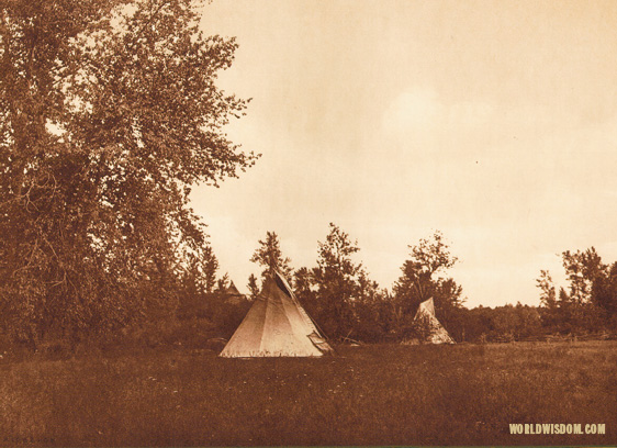 """Last home of Joseph-Nez Perces"", by Edward S. Curtis from The North American Indian Volume 8"
