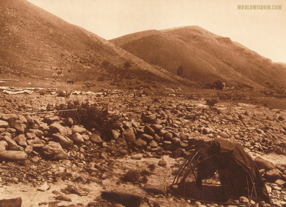 """Nez Perce sweat-lodge"", by Edward S. Curtis from The North American Indian Volume 8"