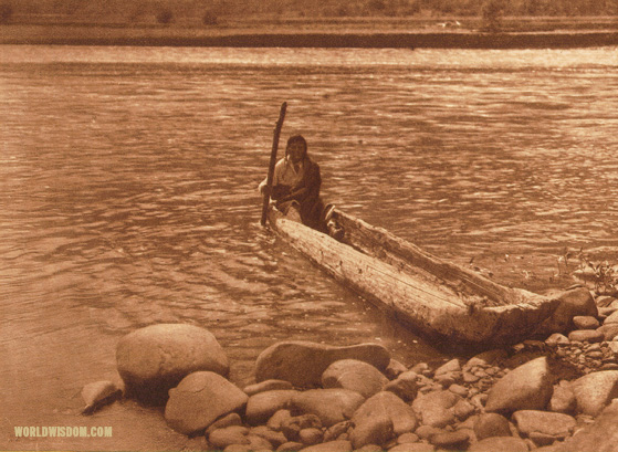 """Nez Perce canoe"", by Edward S. Curtis from The North American Indian Volume 8"