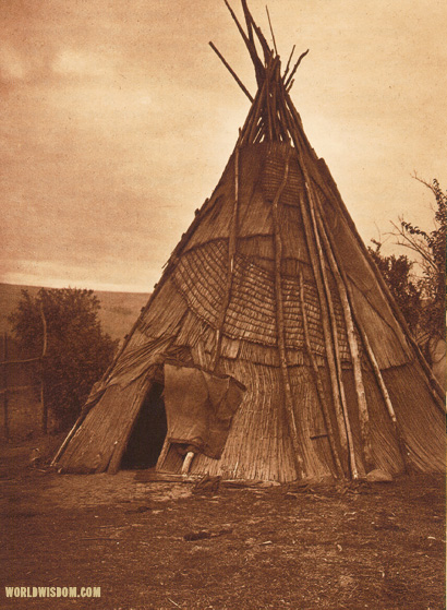 """A mat lodge - Umatilla"", by Edward S. Curtis from The North American Indian Volume 8"