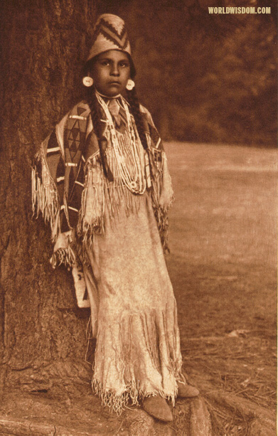 """Umatilla girl"", by Edward S. Curtis from The North American Indian Volume 8"