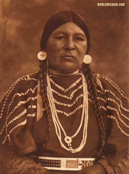"""Cayuse woman"", by Edward S. Curtis from The North American Indian Volume 8"