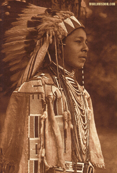 """Youth in holiday costume - Umatilla"", by Edward S. Curtis from The North American Indian Volume 8"