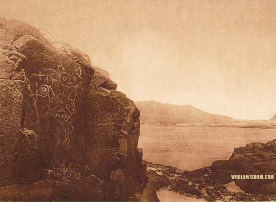 """Petroglyphs - Wishham"", by Edward S. Curtis from The North American Indian Volume 8"