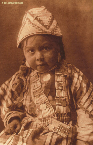 """Wishham child"", by Edward S. Curtis from The North American Indian Volume 8"