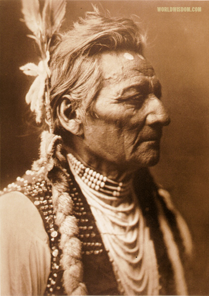 """Piopio-maksmaks, profile - Wallawalla"", by Edward S. Curtis from The North American Indian Volume 8"