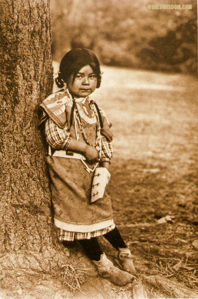 """Innocence - Umatilla"", by Edward S. Curtis from The North American Indian Volume 8"