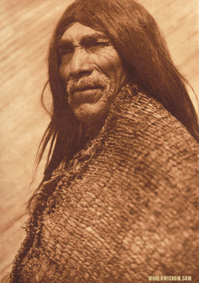 """Lahkeudup"" - Skokomish, by Edward S. Curtis from The North American Indian Volume 9"
