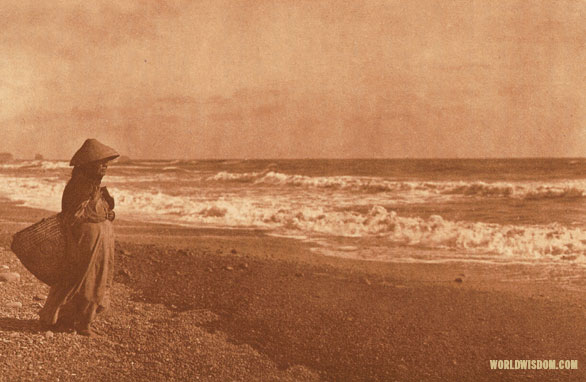 """Going for clams"" - Quinault, by Edward S. Curtis from The North American Indian Volume 9"