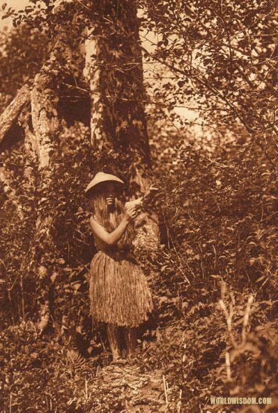 """Berry Picker"" - Quinault, by Edward S. Curtis from The North American Indian Volume 9"