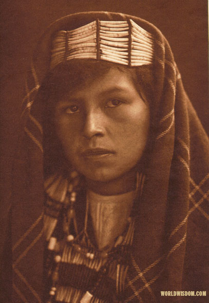 """Quinault female"", by Edward S. Curtis from The North American Indian Volume 9"
