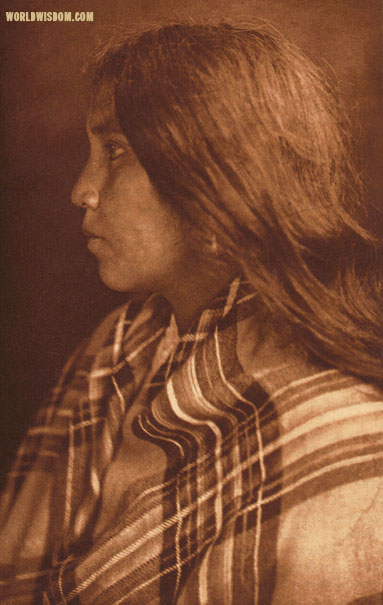 """Quinault girl"", by Edward S. Curtis from The North American Indian Volume 9"