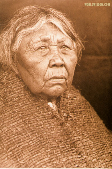 """Hleastunuh"" - Skokomish, by Edward S. Curtis from The North American Indian Volume 9"