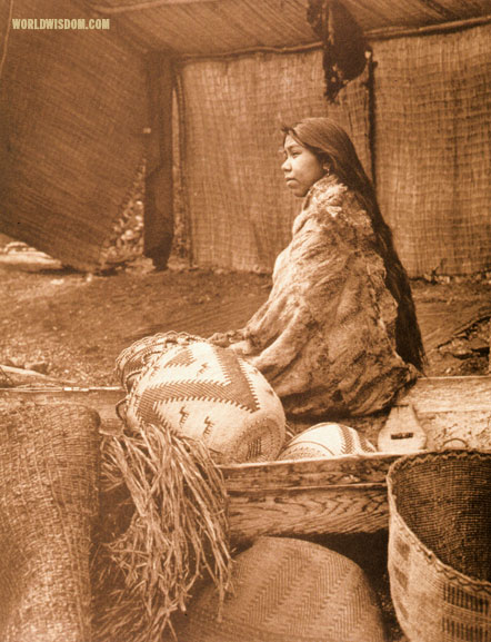 """Chief's daughter"" - Skokomish, by Edward S. Curtis from The North American Indian Volume 9"