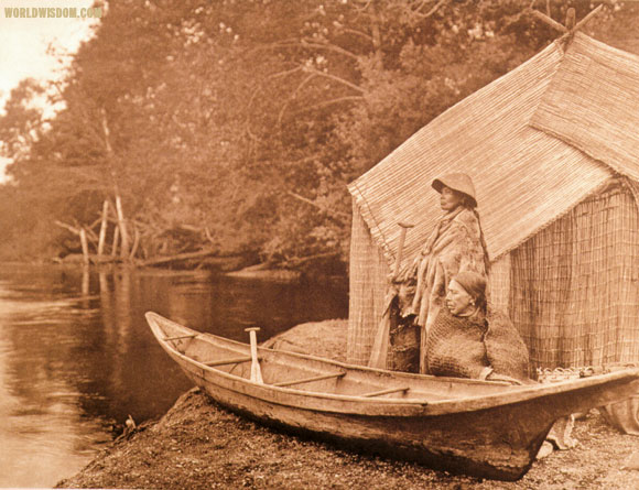 """Fishing camp"" - Skokomish, by Edward S. Curtis from The North American Indian Volume 9"