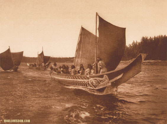 'A fair Breeze - Kwakiutl', by Edward S. Curtis from The North American Indian Volume 10
