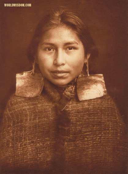 """Tsawatenok girl - Kwakiutl"", by Edward S. Curtis from The North American Indian Volume 10"