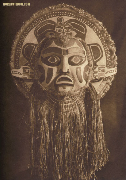 """Dancing Mask - Nootka"", by Edward S. Curtis from The North American Indian Volume 11"