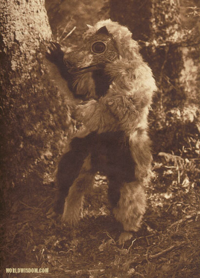 """The bear costume - Nootka"", by Edward S. Curtis from The North American Indian Volume 11"