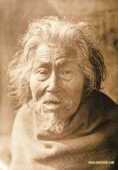 """Oldest man of Nootka - Nootka"" , by Edward S. Curtis from The North American Indian Volume 11"