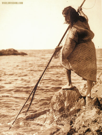 """Nootka method of spearing - Nootka"", by Edward S. Curtis from The North American Indian Volume 11"
