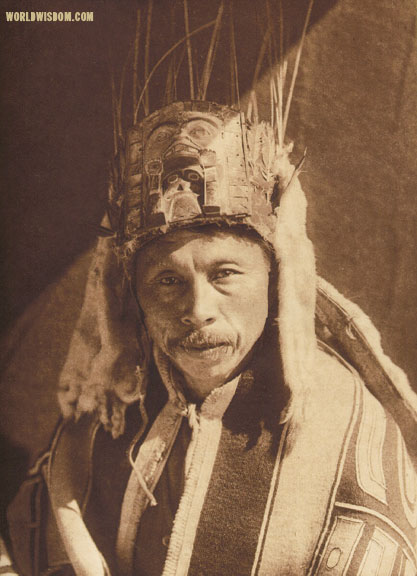 """Raven chief of Skidegate - Haida"", by Edward S. Curtis from The North American Indian Volume 11"