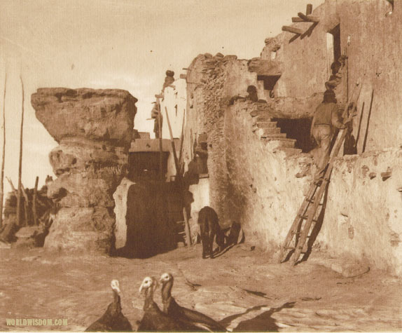 """The plaza at Walpi - Hopi"", by Edward S. Curtis from The North American Indian Volume 12"