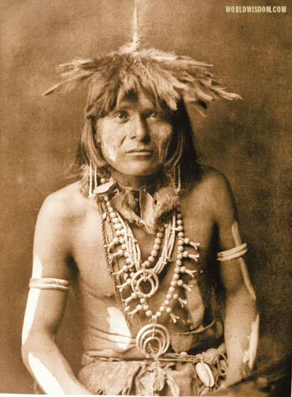 """Snake priest - Hopi"", by Edward S. Curtis from The North American Indian Volume 12"