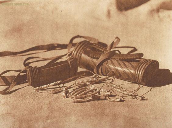 """Hupa purses and money - Hupa"", by Edward S. Curtis from The North American Indian Volume 13"