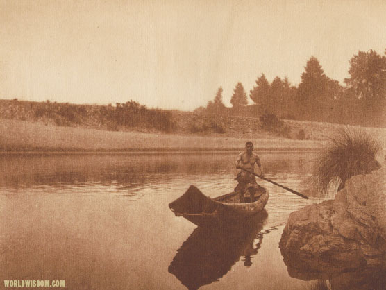 """Hupa fisherman - Hupa"", by Edward S. Curtis from The North American Indian Volume 13"