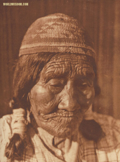 """An ancient Yurok - Yurok"", by Edward S. Curtis from The North American Indian Volume 13"
