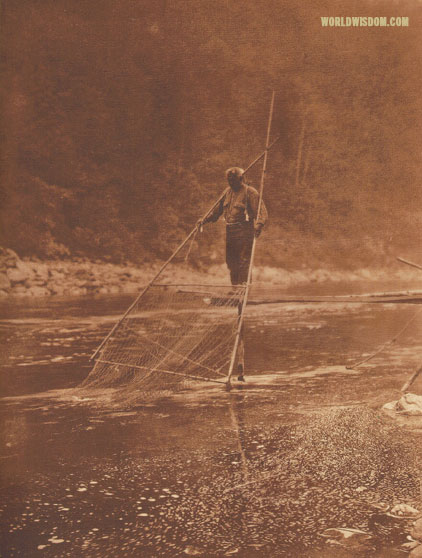 """Yurok fishermen - Yurok"", by Edward S. Curtis from The North American Indian Volume 13"