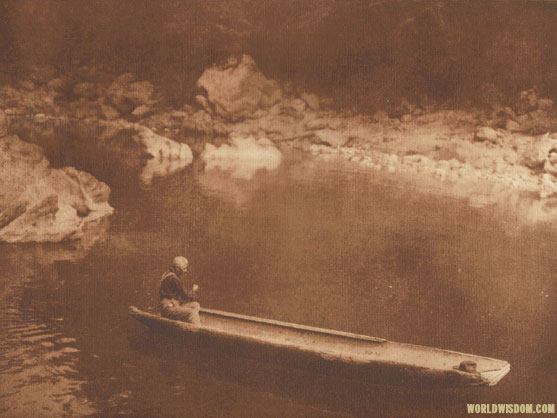 """In the shadow - Yurok"", by Edward S. Curtis from The North American Indian Volume 13"