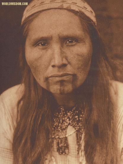 """Tolowa tattooing - Tolowa"", by Edward S. Curtis from The North American Indian Volume 13"