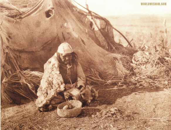 """Achomawi basket-maker - Achomawi"", by Edward S. Curtis from The North American Indian Volume 13"