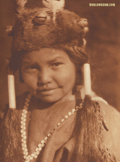 """Klamath child - Klamath"", by Edward S. Curtis from The North American Indian Volume 13"