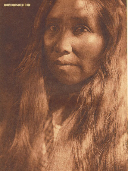 """A Kato woman"", by Edward S. Curtis from The North American Indian Volume 14"