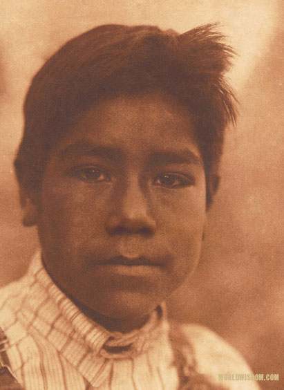 """A Maidu boy"", by Edward S. Curtis from The North American Indian Volume 14"