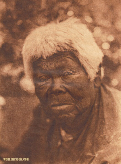 """A southern Miwok woman"", by Edward S. Curtis from The North American Indian Volume 14"