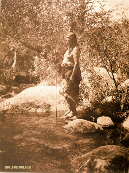 """Fishing-pool"" - Miwok, by Edward S. Curtis from The North American Indian Volume 14"